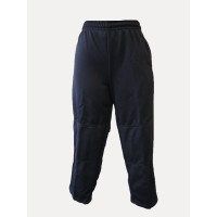 NYLON COTTON TRACKSUIT PANTS WITH DOUBLE KNEE