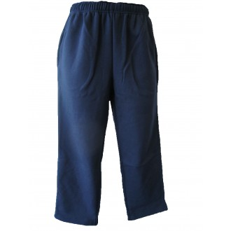 NAVY FLEECE STRAIGHT LEG TRACK PANTS