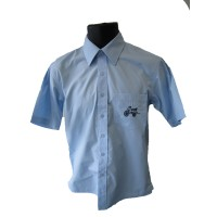 SHORT SLEEVE SHIRT WITH OPEN SIDE SPLITS