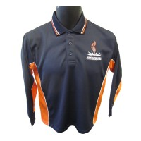 YOUTH'S LONG SLEEVE SLEEVE SPORT MESH POLO TOP