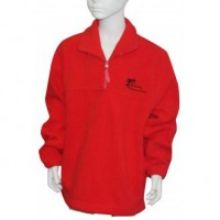 POLAR FLEECE HALF ZIP RUGBY TOP