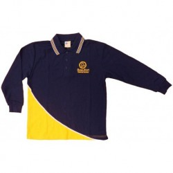 LONG SLEEVE POLO SHIRT FRONT