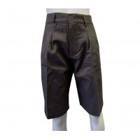 GABERDINE TAILORED SHORTS WITH ZIP-POCKET