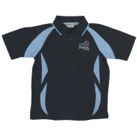 SPORTS POLO WITH MESH CONTOUR PANEL FRONT