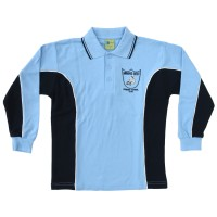 LONG SLEEVE POLO PIQUE SPORTS MESH TOP