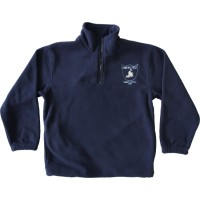 HALF ZIP POLAR FLEECE RUGBY TOP