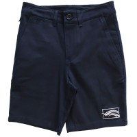 BOYS TAILORED CHINO SHORTS WITH INTERNAL ZIP-POCKET