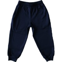 POLY-NYLON TRACK PANTS WITH RIB CUFFS AND INTERNAL SIDE ZIP POCKET