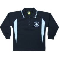 LONG SLEEVE CONTRASTING POLO SHIRT
