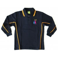 LONG SLEEVE POLO PIQUE TOP